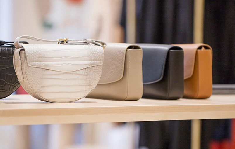 Cuyana Leather Bags in Madison Ave Store