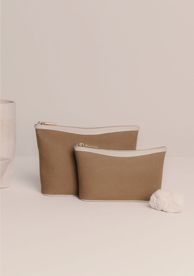 Cuyana Canvas Pouches