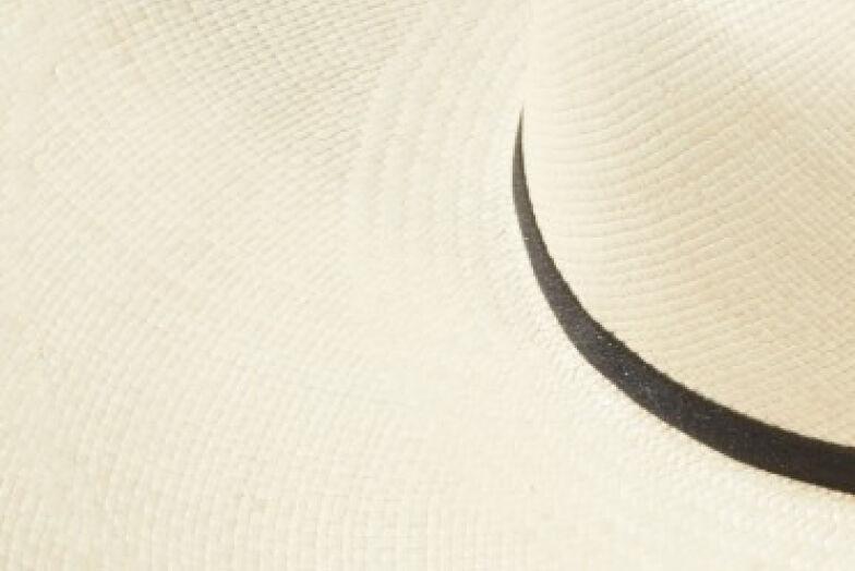 Straw hat close up image