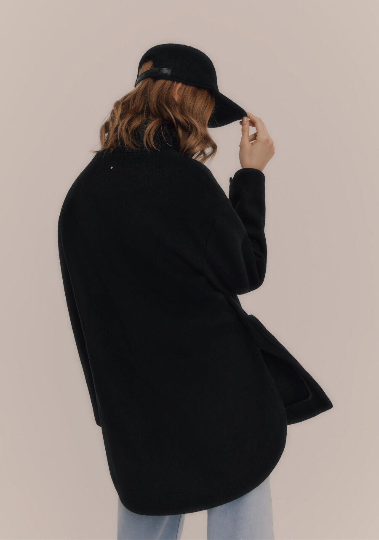 Back detail shot of Wool High-Low Jacket