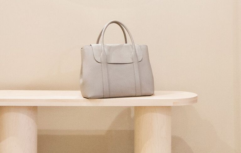 Cuyana Trapeze Satchel in Chicago Store