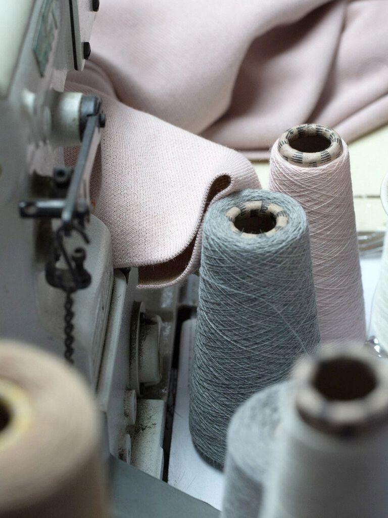 Detail shot of Alpaca Fiber being woven