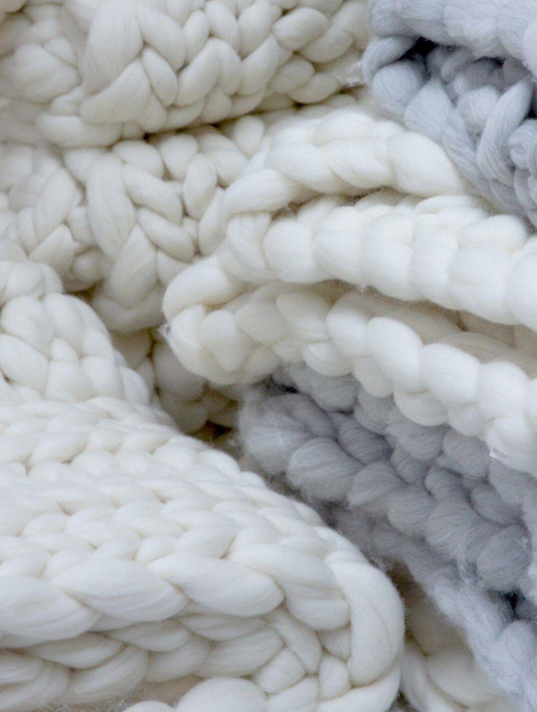 Detail shot of Alpaca woven pieces