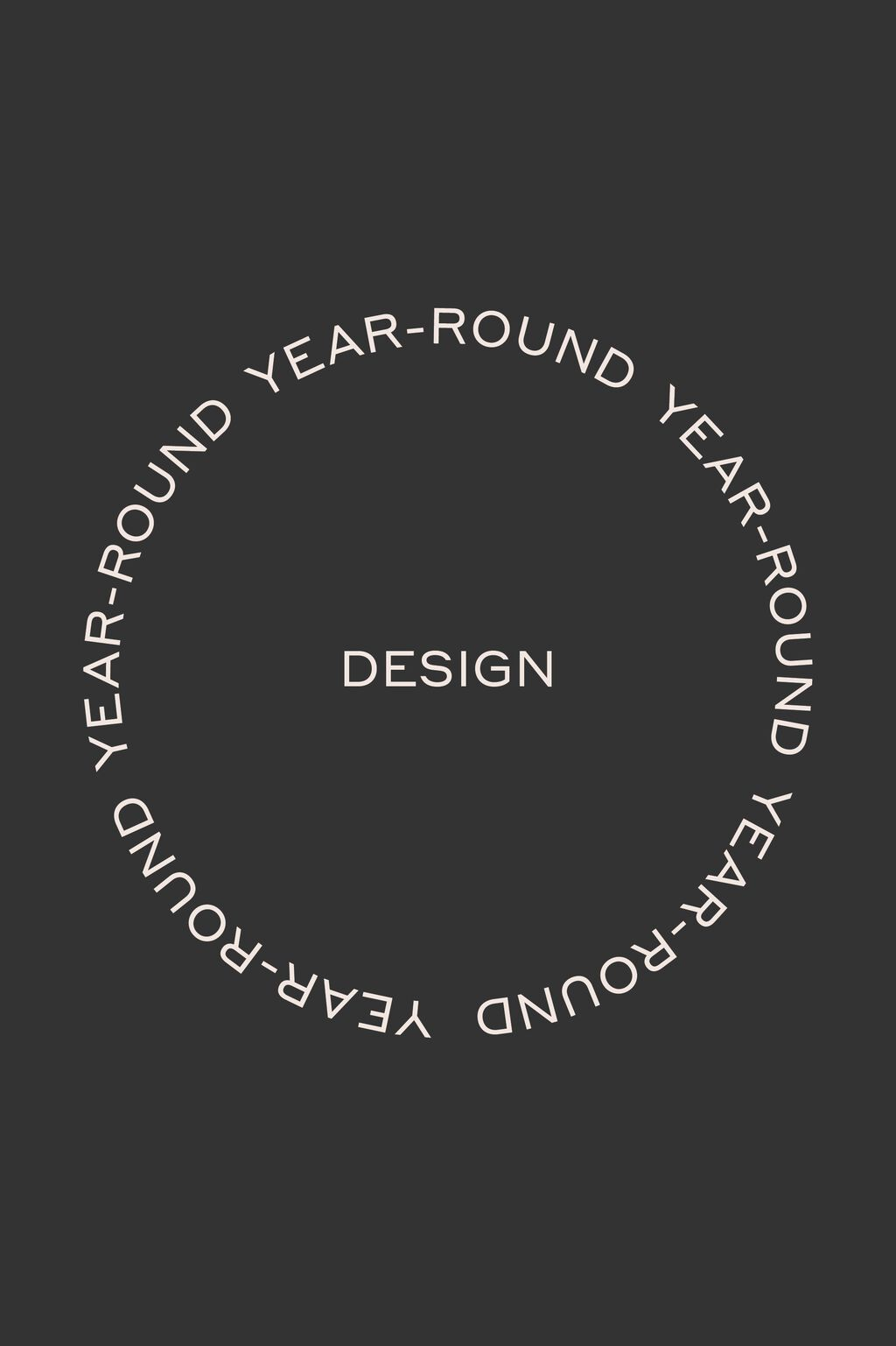 Infographic showing year round design