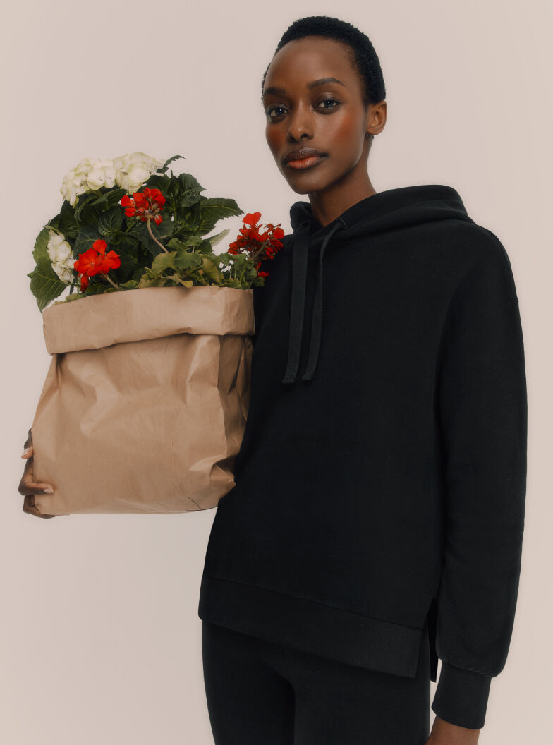 Model in Cuyana Fleece