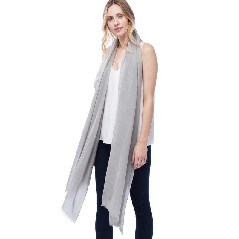 Lightweight Cashmere Scarf in Grey
