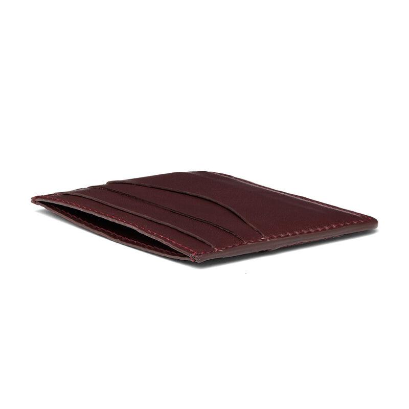 Leather Cardholder in Burgundy