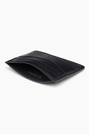 Leather Cardholder, Black, plp