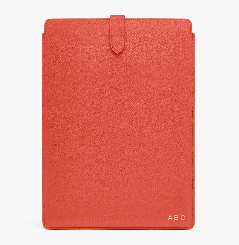 Leather Laptop Sleeve 16-inch in Blood Orange