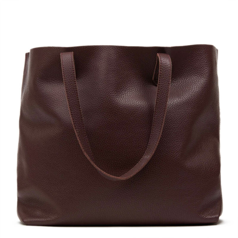 Classic Leather Tote in Burgundy