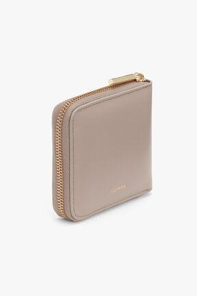 Zero Waste Small Classic Zip Around Wallet in Stone