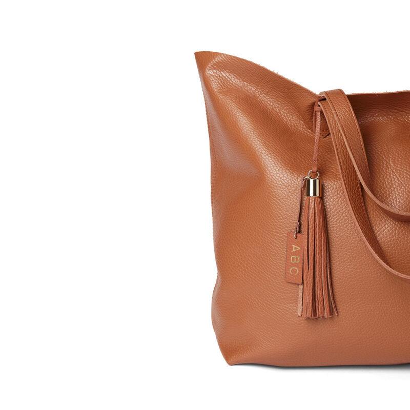 Leather Bag Tassel in Caramel