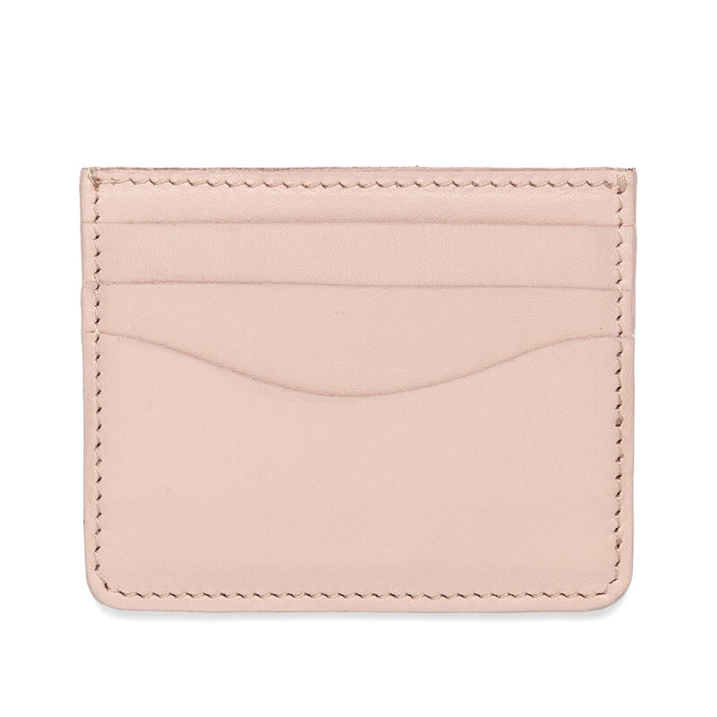 Leather Cardholder in Blush