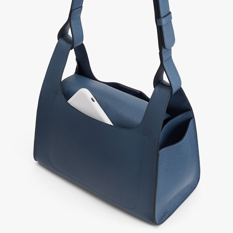 Double Loop Bag in Indigo
