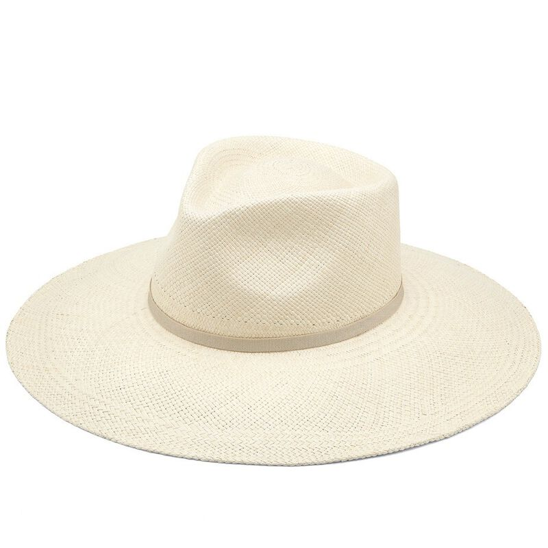 Wide Brim Summer Hat in Natural/Natural