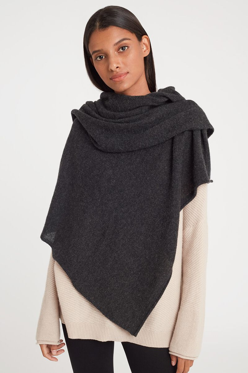 Cashmere Scarf in Charcoal