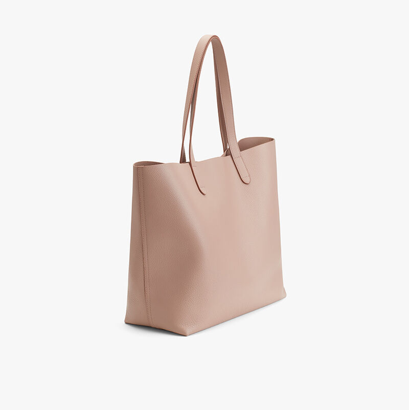 Classic Leather Tote in Soft Rose - Painted
