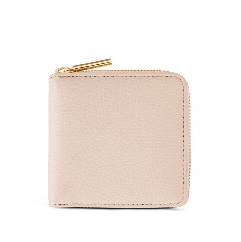 Small Classic Zip Around Wallet in Blush