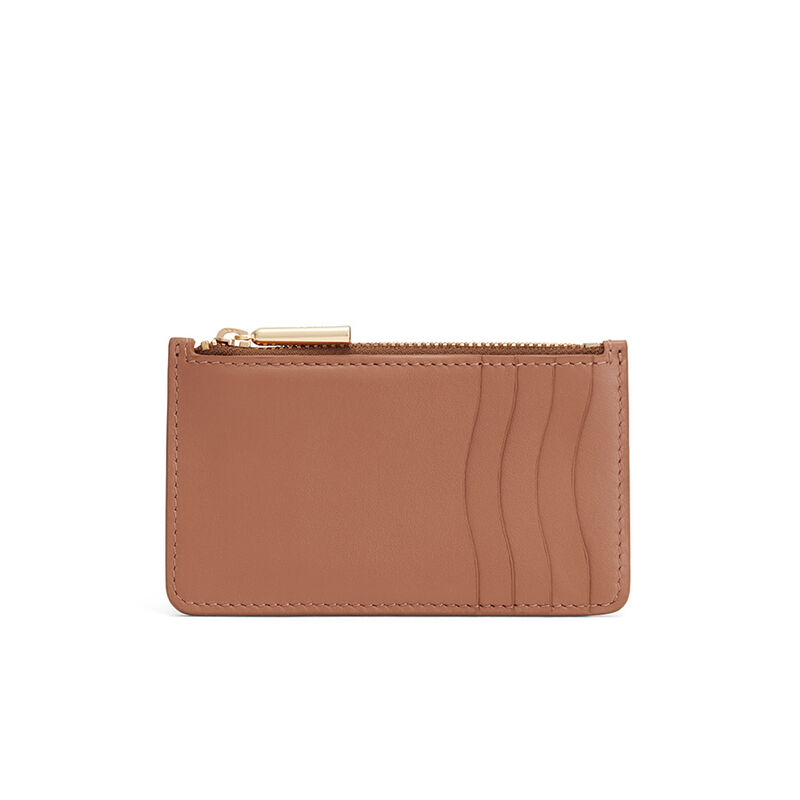 Zip Cardholder in Caramel