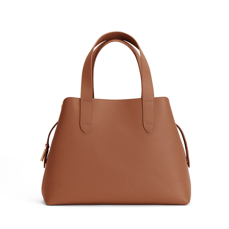 Zippered Satchel in Caramel