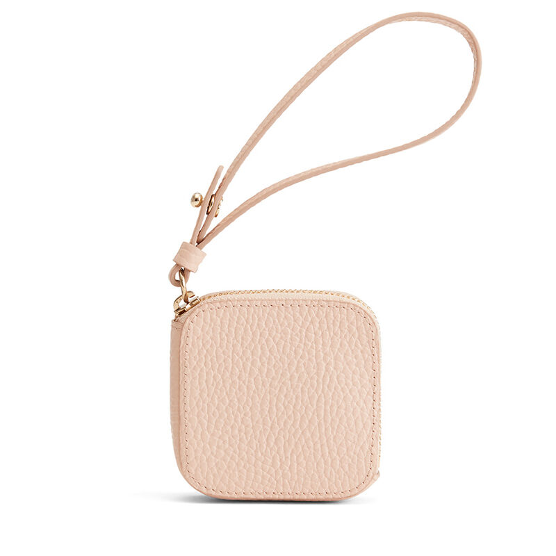 Leather Airpod Case in Blush