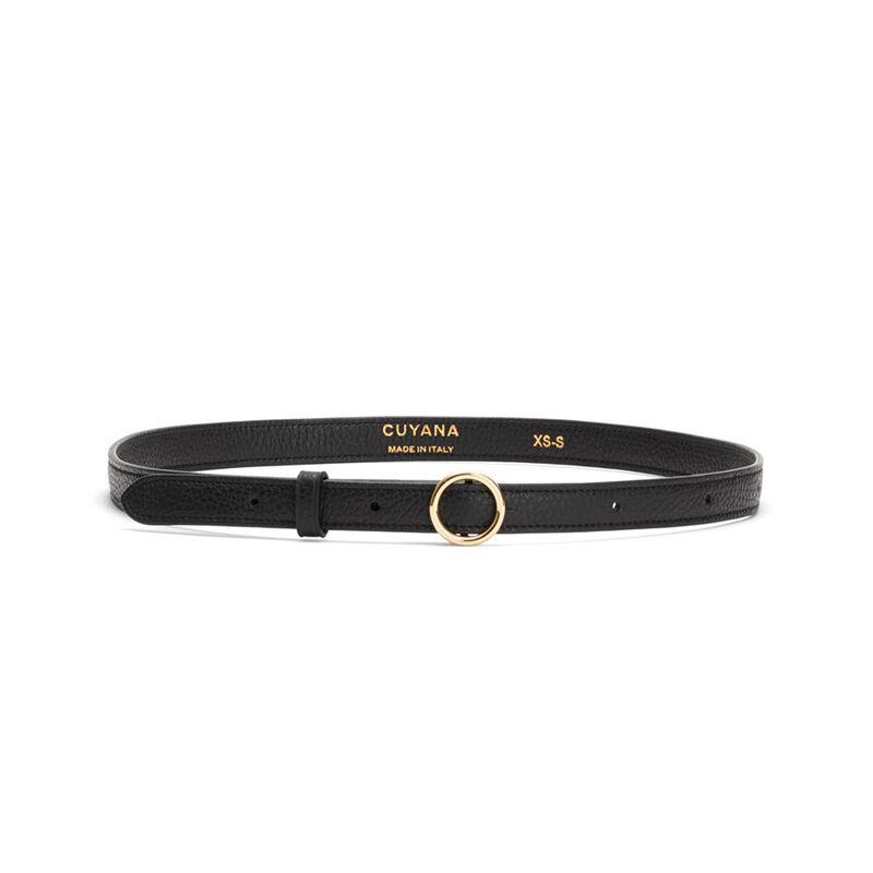 Circle Buckle Belt in Black