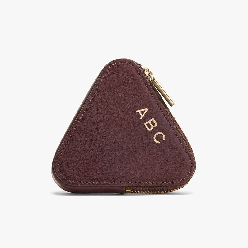 Triangle Pouch in Burgundy