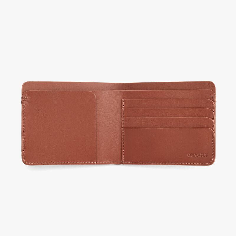 Men's Leather Folding Wallet in Chestnut