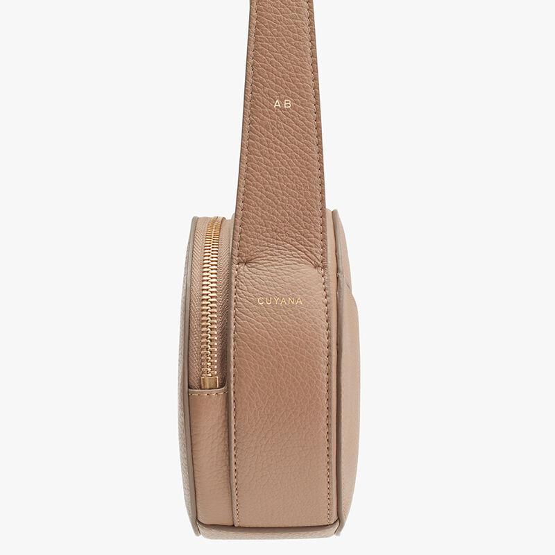 Top Handle Crossbody Bag, Cappuccino, large