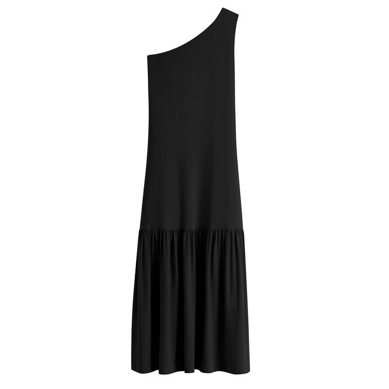 One-Shoulder Dress in Black