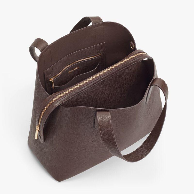 Zippered Satchel in Chocolate
