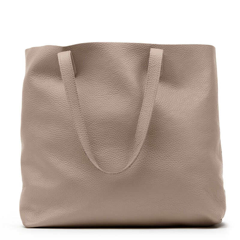Classic Leather Tote in Stone