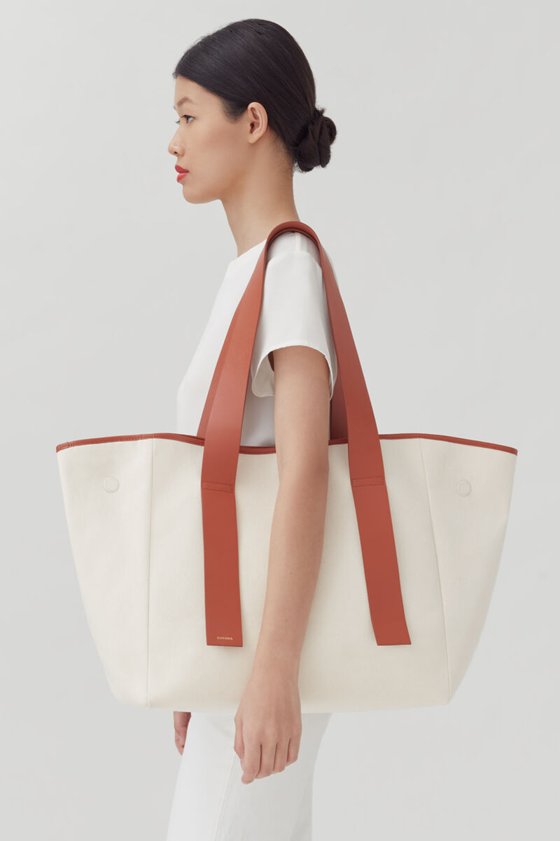 Canvas Tote, Natural, large