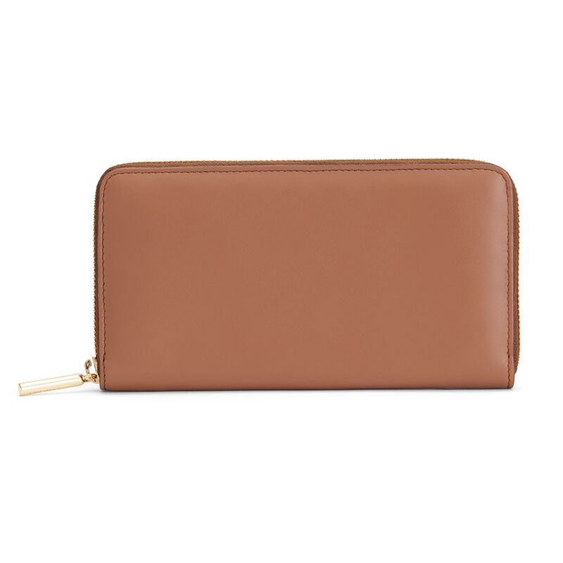 Zero Waste Classic Zip Around Wallet in Caramel