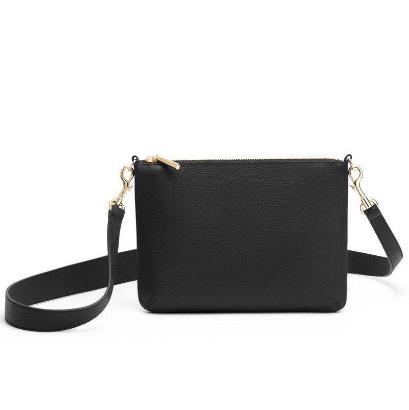 Curved Crossbody in Black
