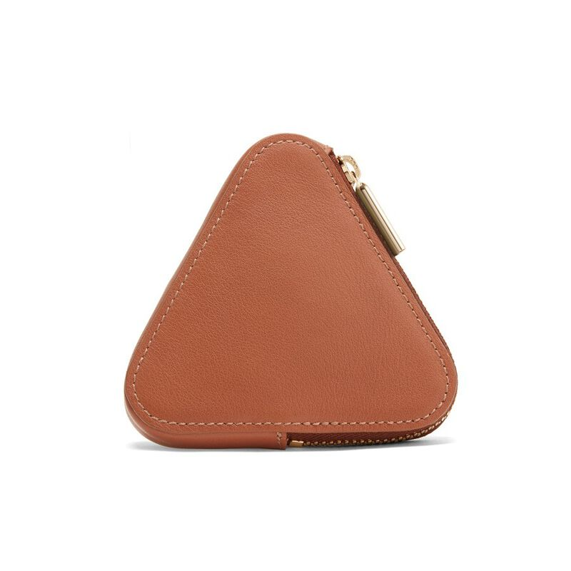 Triangle Pouch in Caramel