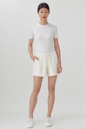 French Terry Shorts, Ecru, plp