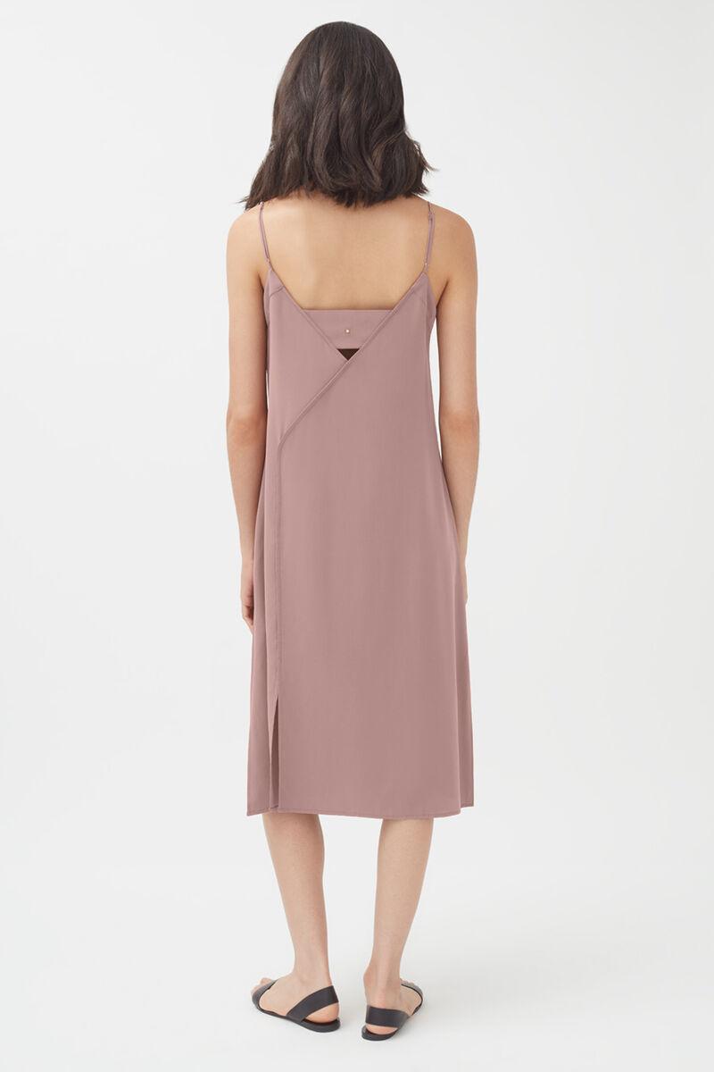 Silk Slip Dress in Mauve