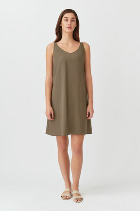 Tencel Tie-Back Short Dress