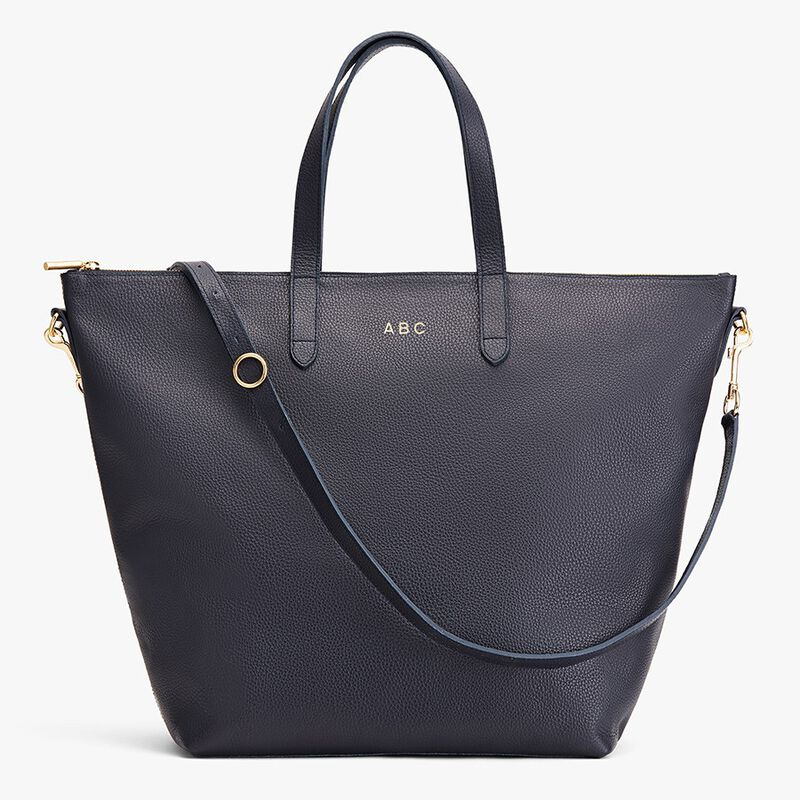 Oversized Carryall Tote in Navy