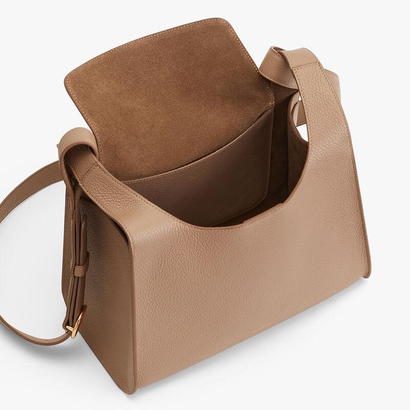 Double Loop Bag in Cappuccino