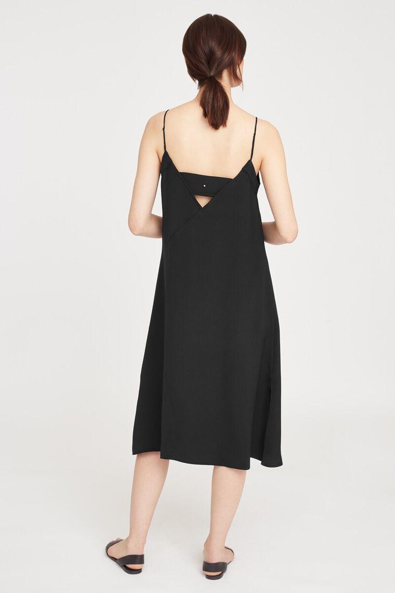 Silk Slip Dress in Black