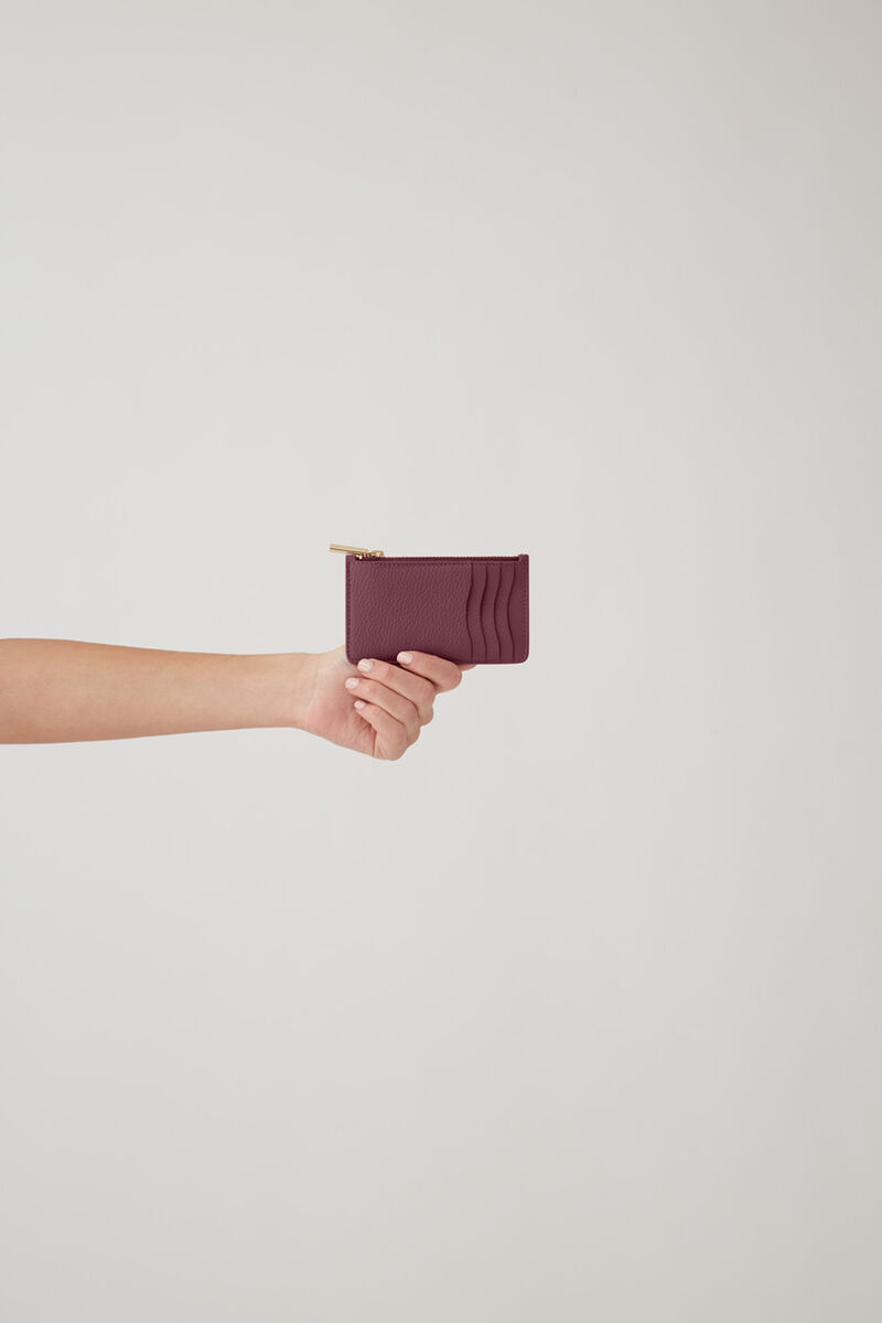 Zip Cardholder, Merlot, large