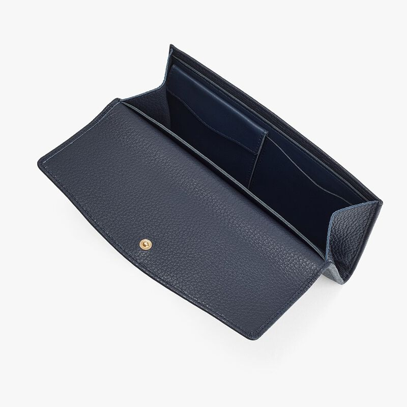 Classic Flap Wallet in Navy