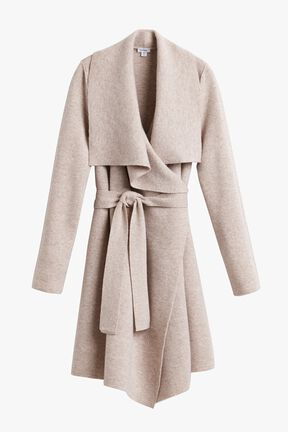 Wool Cashmere Short Wrap Coat