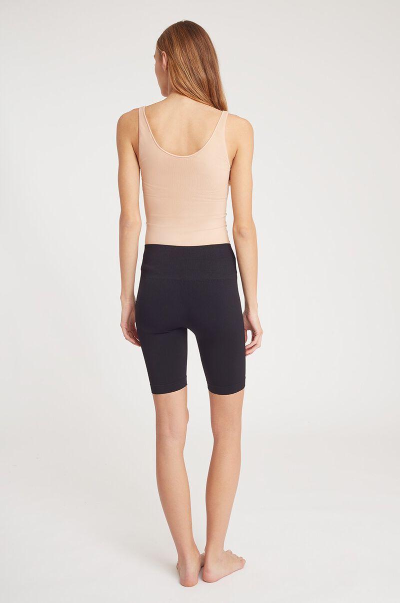 Seamless Long Shorts in Black