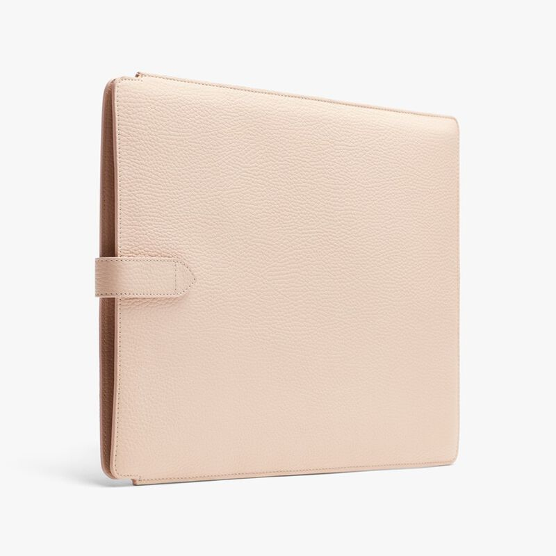 Leather Laptop Sleeve 16-inch in Blush