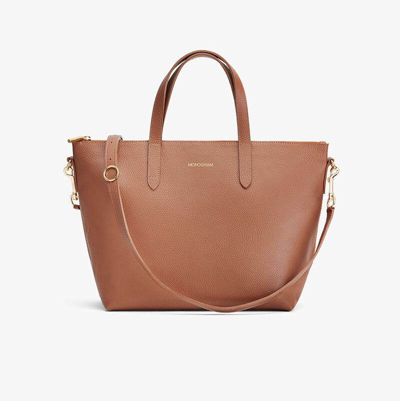 Medium Carryall Tote in Caramel