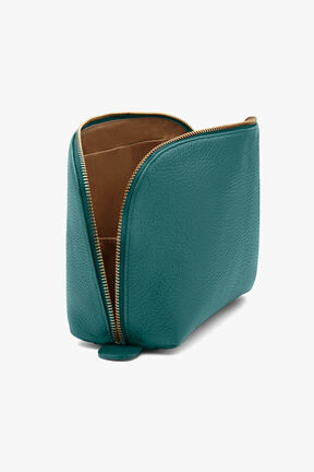 Leather Travel Case Set, Jade, plp