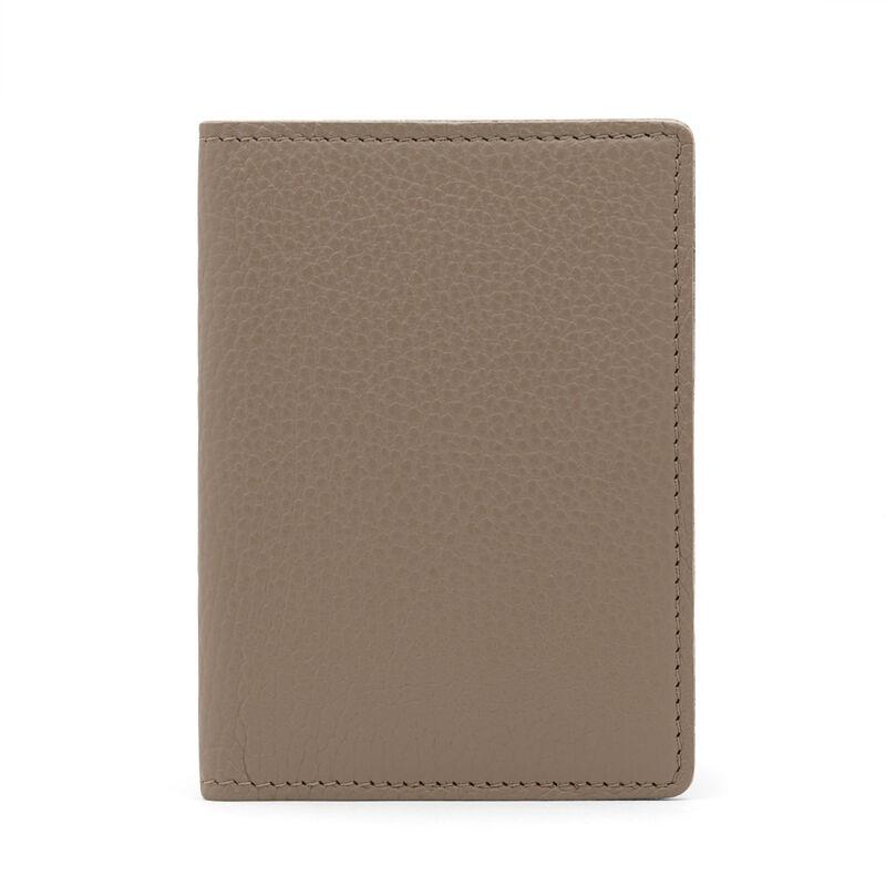 Slim Leather Passport Case in Stone